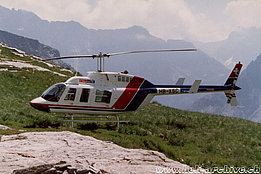 Valle Maggia/TI, summer 1992 - The Bell 206L-3 Long Ranger III in service with Eliticino (G. Testa)