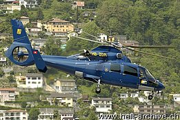 Lugano-Agno/TI, May 2008 - The SA 365N3 Dauphin 2 HB-ZDR in service with Swift Copters SA (photo by www.airphototicino.com)