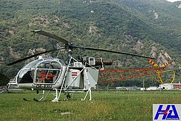 San Vittore, April 2007 - SA 315B Lama OE-EXU temporarily in service with Heli-Rezia (M. Bazzani)