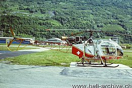 Sion/VS, May 1985 - The SA 315B Lama HB-XEO in service with Air Glaciers (M. Herzig)