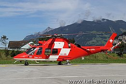 Erstfeld/UR, September 2013 - The AW 109SP Da Vinci HB-ZRS in service with REGA (M. Ceresa)