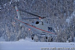 Samedan/GR, December 2013 - The Agusta-Westland 109SP HB-ZVJ in service with Swiss Helicopter AG (T. Schmid)