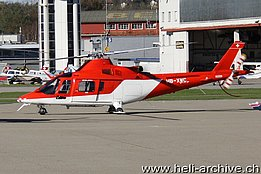 Belp/BE, November 2012 - The Agusta A109K2 HB-XWC in service with the OFAC (photo AVIJOY)