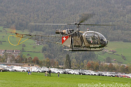 Alpnach/OW, October 2014 - The SE 3130 Alouette 2 HB-XYB operated by Alouette Swiss AG (K. Albisser)