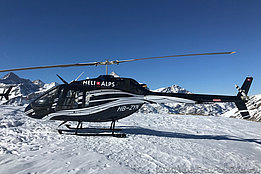 Rothorn/VS, February 2019 - The Bell 505 HB-ZYN in service with Héli-Alpes (H. Zurniwen)