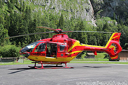 Lauterbrunnen/BE, August 2016 - The EC 135T1 HB-ZRK in service with Air Glaciers (M. Ceresa)