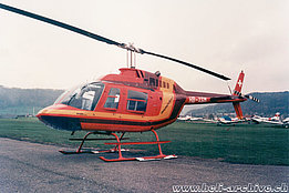 Belp/BE, 1990s - The Agusta-Bell 206B Jet Ranger III HB-XSL in service with Mountain Flyers 80 Ltd (P. Wernli)