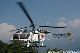 Sementina/TI, October 2005 - The SA 315B Lama HB-XDN in service with Eliticino (M. Bazzani)