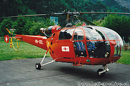 Erstfeld/UR, May 1997 - The SA 319B Alouette 3 HB-XEL in service with Mountain Flyers 80 Ltd (K. Albisser)