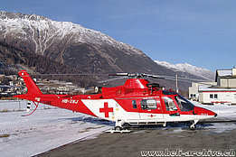 Samedan/GR, December 2004 - The Agusta A109K2 HB-XWJ in service with Rega (M. Ceresa)
