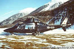 Samedan/GR, March 1996 - The Agusta A109C HB-XXB in service with Sky Jet Aviation Establishment (M. Bazzani)