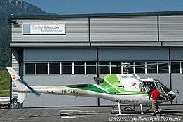 Balzers/FL, August 2008 - The AS 350B3 Ecureuil HB-ZDE in service with Rhein-Helikopter (M. Bazzani)