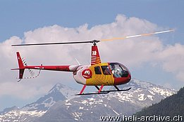 Ambrì/TI, June 2005 - The Robinson R-44 Raven II HB-ZGM in service with Mountain Flyers 80 Ltd. (M. Ceresa)