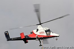 Ambrì/TI, May 2014 - The Kaman K-1200 K-Max HB-ZIH in service with Rotex Helicopter AG (M. Ceresa)