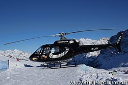 Lauberhorn ski race/BE, gennaio 2012 - L'AS 350B2 Ecureuil HB-ZTM in servizio con la Mountain Flyers 80 Ltd (B. Siegfried)