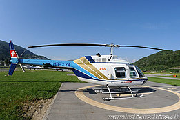 Agno/TI, May 2012 - The Bell 206B Jet Ranger III HB-XYA in service with Héli-Lausanne (www.airphototicino.com)