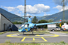 Bex/VD, August 2019 - The Robinson R-22 Beta II HB-ZTS in service with Chablais Heli Club (M. Bazzani)