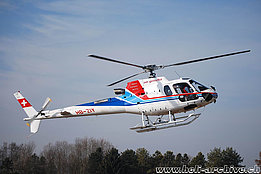 Zurich airport/ZH, February 2008 - The AS 350B3 Ecureuil HB-ZIY in service with Air Grischa Helikopter (K. Albisser)