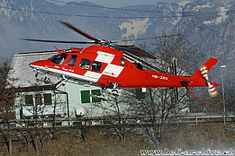 Erstfeld/UR, January 2015 - The AW 109SP Da Vinci HB-ZRV in service with Rega (B. Siegfried)