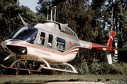 1990s - The Bell 206L-3 Long Ranger HB-XSP in service with Helimission (archive Helimission)