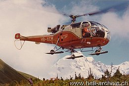 The SE 3160 Alouette III HB-XCM in service with Air Glaciers (foto Adolf Lizler)
