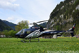 Lauterbunnen/BE, May 2015 – The AS 350B3+ HB-ZJR in service with Héli-Alpes SA (M. Bazzani)
