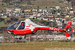 Locarno airport/TI, January 2020 - The Guimbal G2 Cabri HB-ZYZ in service with Swiss Helicopter (M. Ceresa)