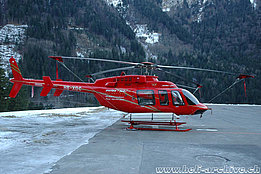 Gsteigwiler/BE, January 2005 - The Bell 407 HB-XQC in service with Bohag (K. Albisser)