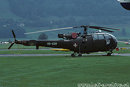 Belp/BE, August 1998 - The SE 3160 Alouette 3 HB-XZM in service with UFAC (A. Heumann)