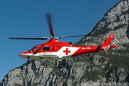 Erstfeld/UR, October 2005 - The Agusta A109K2 HB-XWM in service with Rega (K. Albisser)