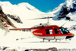 '70s - The Bell 206B Jet Ranger II HB-XFH in service with Heliswiss (E. Devaud)