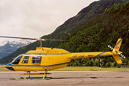 Ambrì/TI, September 2000 - The Agusta-Bell 206B Jet Ranger II HB-XQI in service with Heli-Rezia (M. Bazzani)