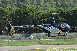 Sion/VS, August 2017 - The Robinson R-44 Raven II HB-ZJW in service with Héli-Alpes SA (T. Schmid)