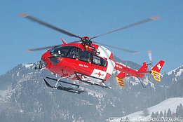 Zweisimmen/BE, January 2009 - The EC-145 HB-ZRF in service with Rega (K. Albisser)