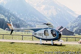 1975 - The Hughes 500C HB-XEE in service with Robert Fuchs (Fuchs Helikopter)