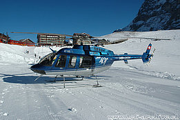 Kleine Scheidegg/BE, January 2006 - The Bell 407 HB-XQY in service with CHS Central Helicopter (K. Albisser)