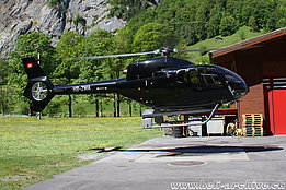 Lauterbrunnen/BE, July 2011 - The EC 120B Colibrì HB-ZMA in service with Helipool Europe Gmbh (photo Bruno Siegfried)