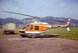 Belp/BE, 1970s - The Bell 206A Jet Ranger II HB-XCF in service with Heliswiss (archive P. Schwarzer)