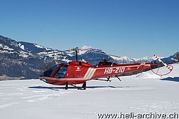 Aeschiried/BE, February 2009 - The Enstrom F-280FX HB-ZIQ in service with Himmelsbach AG (T. Schmid)