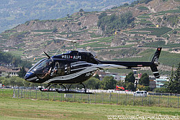 Sion/VS, August 2018 - The Bell 505 HB-ZYN in service with Héli-Alpes (M. Ceresa)
