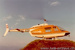 August 1974 - The Bell 206A/B Jet Ranger II HB-XDB of the Heliswiss (archive E. Devaud)