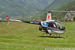 Schattdorf/UR, 1997 - The Robinson R-22 Beta HB-XYZ in service with Valair AG (K. Albisser)