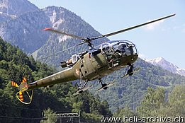 Alpnach/NW, June 2013 - The SE 3160 Alouette III HB-XXM in service with Alouette Swiss AG (AVIJOY)