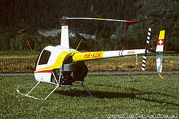 Ambrì/TI, July 1996 - The Robinson R-22 Beta HB-XZR in service with Helifreunde Oberwallis (HAB)