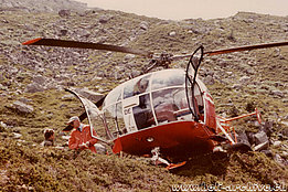 1970s - The SE 3160 Alouette III HB-XDE in service with FOCA (fam. Donau)