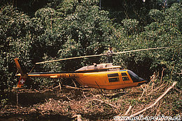 Suriname, February 1971 - The Bell 206A Jet Ranger HB-XDD in service with Heliswiss (HAB)