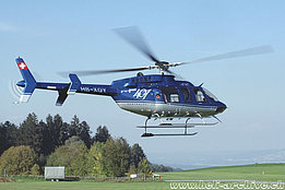 Buttwil/AG, September 2005 - The Bell 407 HB-XQY in service with CHS Central Helicopter (K. Albisser)