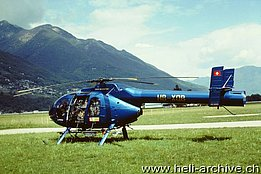 Locarno/TI, April 2000 - The MD 600N HB-XQB in service with Fuchs-Bamert Robert (M. Bazzani)