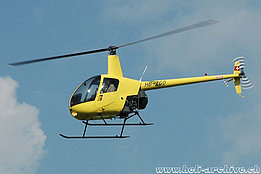 Bex/VD, June 2005 - The Robinson R-22 Beta II HB-ZGO in service with Mountain Flyers 80 Ltd (K. Albisser)