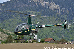 Bex/VS, May 2017 - The Robinson R-22 Beta II HB-ZTS in service with Chablais Heli Club (T. Schmid)